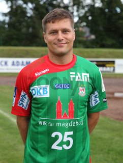 slowenischer Handballer Marko Bezjak  SC Magdeburg DHB HBL DKB Handball -Bundesliga Saison 2014-15