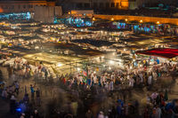 Jemaa el-Fnaa, square and market place in Marrakesh, Morocco