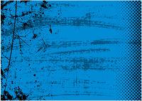 Blauer Grunge Hintergrund mit Textur und Halbton
