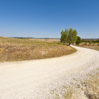 Winding dirt road in Italy