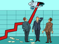 the concept of too rapid growth of the business. arrow growth chart