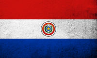 The Republic of Paraguay National flag . Grunge background