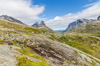 Typical Norwegian landscape with mountains