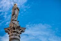 padua, italien - 19.03.2019 - säule mit der heiligen maria