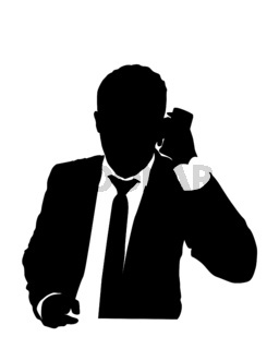 Suit man on the phone 4