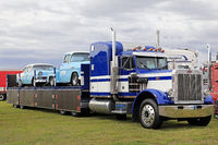 Classic Peterbilt 359 and Vintage Car Load