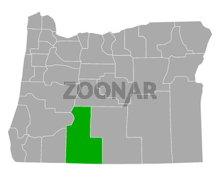 Karte von Klamath in Oregon - Map of Klamath in Oregon