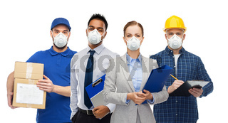 people in face masks for protection from virus