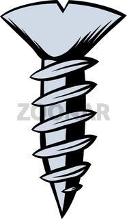 Screw icon cartoon