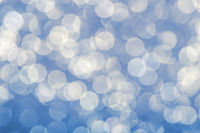 Blue christmas festive elegant abstract background with bokeh