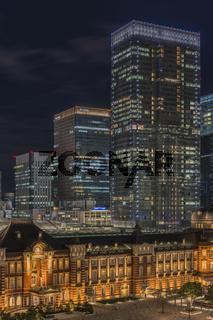 Marunouchi side of Tokyo railway station in the Chiyoda City, Tokyo, Japan.  The stati