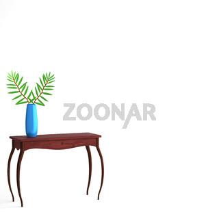 Konsolentisch mit Vase und Zweigen