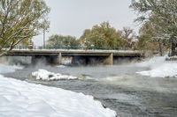 Poudre River at a whitewater park in Fort Collins