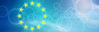 eu europa symbol flagge freiraum zahnräder