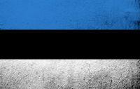The Republic of Estonia national flag sinimustvalge. Grunge background