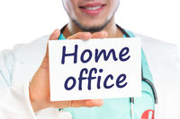 Home office work working Corona virus coronavirus disease doctor ill illness healthy health
