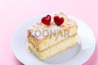 French Mille feuille cake