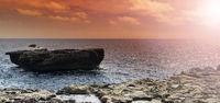 Rugged coastline of Gozo