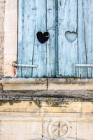 Window with a heart in Provence