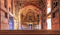 Agra Fort entrance interior,  beautiful details, India