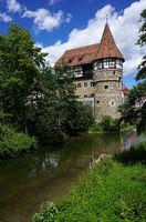 Zollernschloss in Balingen an der Eyach im Zollernalbkreis, Baden Württemberg, Deutschland