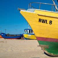 Fischerboot bei Rewal in Polen