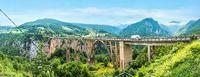 Panorama of Djurdjevica Bridge