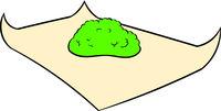 Marijuana on rolling paper icon, icon cartoon