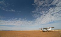 Flight landing at Masai Mara, Maasai Mara National Reserve, Kenya, Africa