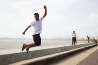 Marine Drive Life in Mumbai India