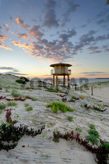 Wanda Beach Surf Life Guard  Lookout Tower at sunrise