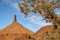 Castleton Tower, iconic rock formation in Castle Valley near Moab