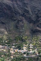 Dorf im Valle Gran Rey auf La Gomera