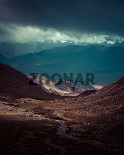 Himalaya high mountain landscape. India, Ladakh