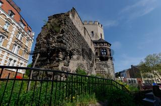 mittelalterlichen Stadtmauer in Köln