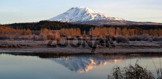 Still Morning Sunrise Trout Lake Adams Mountain Gifford Pinchot Forest