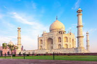 Famous Taj Mahal in Agra, Uttar Pradesh, India, no people