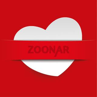 White Heart Convert Red Banner