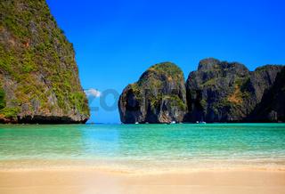 Maya Bay, Ko Phi Phi Leh Insel, Provinz Krabi, Thailand.