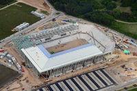 Freiburg, Baustelle des neuen SC Stadions