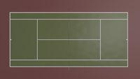 3d illustration of tennis field, cort for sport