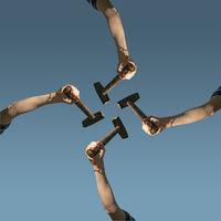 teamwork art collage