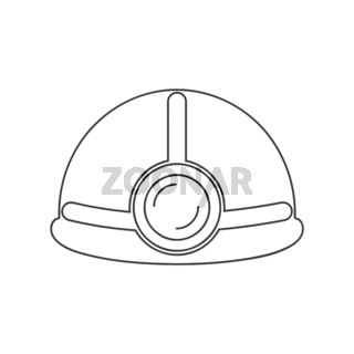 Hard Hat With Light Icon Vector