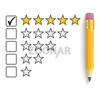 Pencil 5 Stars Rating