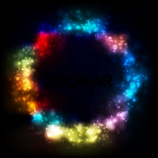 Shiny vector circle abstract background. Gradient mesh
