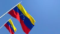 3D rendering of the national flag of Venezuela waving in the wind
