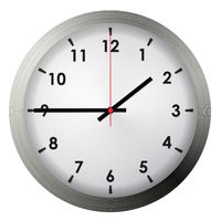 Analog metal wall clock