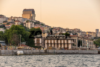 The right bank of the Bosphorus at sunset