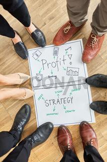 Brainstorming Workshop über Profit und Strategie