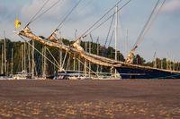 Segelschiff im Stadthafen von Rostock